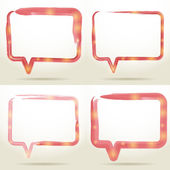 Set Blank empty white speech bubbles watercolor on white background. vector — Stockvektor