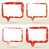 Set Blank empty white speech bubbles watercolor. vector — Stock Vector
