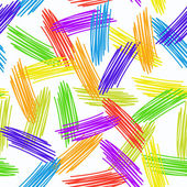 Abstract grunge texture seamless pattern. colorful rainbow on white background. vector — Vettoriale Stock