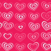 White striped heart on pink background Valentine's day, wedding seamless pattern. vector — Vetor de Stock