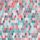 Seamless pattern of hexagons, pink, blue, brown. Vector — Stock Vector