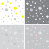 Set of 4 abstract background with dots — Stock Vector