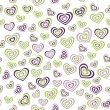 Seamless pattern heart green, purple on white background. wedding marriage ceremony Valentines Day. Vector — Stock Vector #66792215