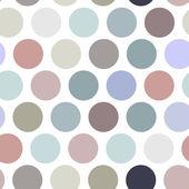 Polka dot background, seamless pattern. Pastel color dot on white background. Vector — Stock Vector