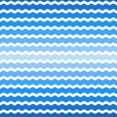 Wave blue gradient background, seamless pattern. Vector  — Stock Vector