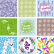 Large set of Abstract grunge texture, floral seamless pattern, Happy Easter card design, Happy StPatricks Day seamless pattern Its your day freehand drawing. Vector — Stock Vector #71856485