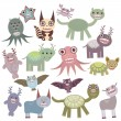 Funny monsters set Big collection on white background. Vector  — Stock Vector #71857101