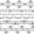 Vintage border design elements, black on white background.  Seamless pattern for frames and borders. Used pattern brushes included. Vector — Stock Vector #78509130