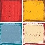 Abstract grunge frame set. red orange blue beige Background template. Vector — Stock Vector #78507898