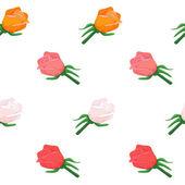 χωρίς ραφή πρότυπο ροδαλό λουλούδι — Διανυσματικό Αρχείο