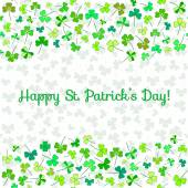 Design template with place for text for Saint Patrick's Day — Stockvektor