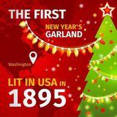 Ilustracja. pierwsze Boże Narodzenie wianek — Wektor stockowy