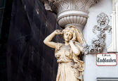 Statue on a house, Vienna, Austria — Stock Photo