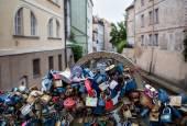 Vergrendelde liefde in Praag — Stockfoto