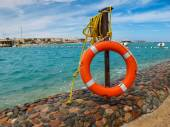 Beach with a lifebelt in Hurghada, Egypt — Stock Photo