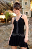 Black Dress - Professional Model - Nice Background — Foto de Stock