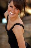 Black Dress - Professional Model - Nice Background — Foto de Stock