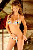 Poke a-punteggiato di bikini — Foto Stock