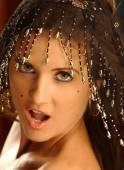 Portrait of brunette woman posing sensually — Stock Photo