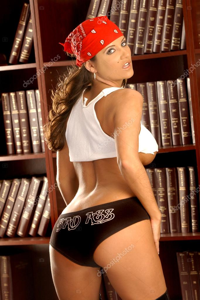 Bad Ass - Lawyer Office - Black Short-shorts - Torn Top - Red ...