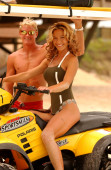 Dude with his Babe - Fun in the Sun — Photo