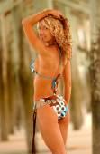 Graffiti Bikini - Front Side and Back Views — Stock Photo