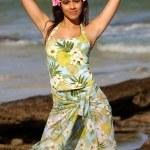 Fun Green 3 Piece  - Adorable Brazilian Brunette — Stock Photo #53397473