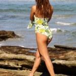 Fun Green 3 Piece  - Adorable Brazilian Brunette — Stock Photo #53397567