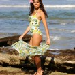 Fun Green 3 Piece  - Adorable Brazilian Brunette — Stock Photo #53397591