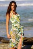 Green Flowered Swimwear — Stock Photo