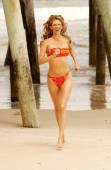 Playboy modell aubrie citron - badkläder skjuta — Stockfoto