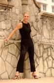 Playboy Model Rebecca Newell - Black One Piece Swinsuit — Foto de Stock