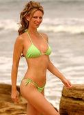 Playboy Model Aubrie Lemon - Sexy String Bikini — Zdjęcie stockowe
