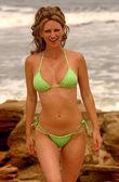 Playboy Model Aubrie Lemon - Sexy String Bikini — Stock Photo