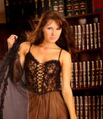 Sheer Lace Lingerie - Sexy Pose - Gorgeous Professional Model — Stock Photo
