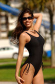 Brazilian Stunner - One Piece Black - Black Necklace — Stockfoto