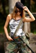Military Girl - Combat Specialist — Stock Photo