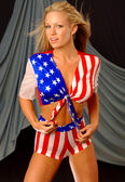 All American Model and Outfit — Stockfoto