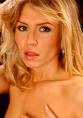 Supermodel blond  portrait — Stock Photo