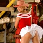 Cheerleader - Cowgirl - Upshirt - All American Gal — Stock Photo #56380431