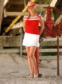 Animadora - vaquera - Upshirt - galón americano todos — Foto de Stock