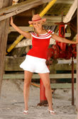 Cheerleader - Cowgirl - Upshirt - All American Gal — Foto de Stock