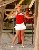 Cheerleader Cowgirl — Foto de Stock