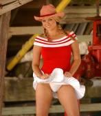 Cheerleader - Cowgirl - Upshirt - All American Gal — ストック写真