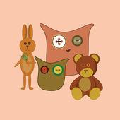 おもちゃ — ストックベクタ
