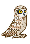 Brown owl — Stock Vector
