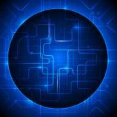 Fondo de tecnología abstracto azul de ilustración vectorial — Vector de stock