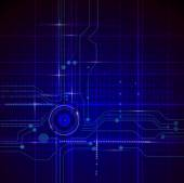 Illustration Blue abstract technology circuit background — Cтоковый вектор