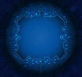 Illustration Blue abstract technology circuit background — Vector de stock