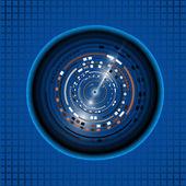Blue Eyeball technology  background — Stock Vector